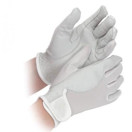 Gant venerie blanc cuir