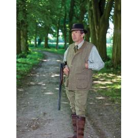 Gilet de chasse en tweed