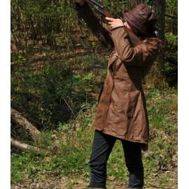 Veste de chasse en coton enduit