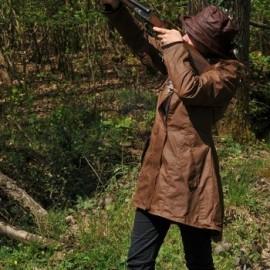 Veste de chasse huilée femme
