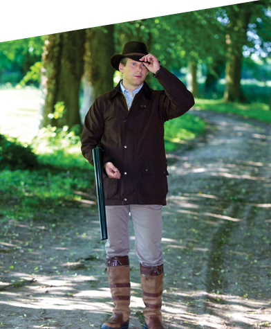 Veste de chasse en coton huilé